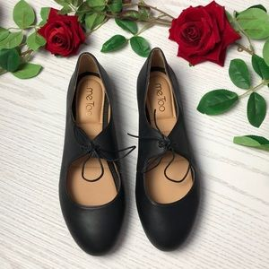 me Too Leather Cacey Ballerina Flats NWOT